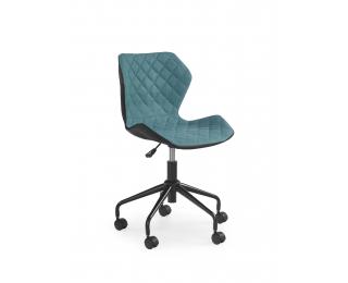 Detská stolička na kolieskach Matrix - tyrkysová / čierna