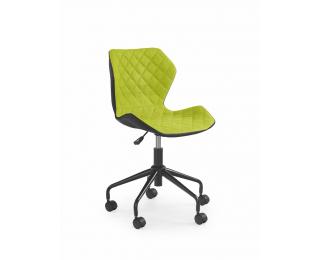 Detská stolička na kolieskach Matrix - zelená / čierna