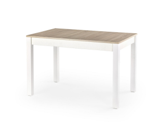 Rozkladací jedálenský stôl Maurycy - dub sonoma / biela
