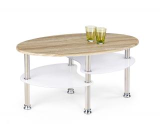 Konferenčný stolík Medea - dub sonoma / biela