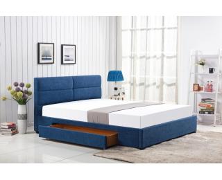 Čalúnená manželská posteľ s roštom Merida 160 - modrá
