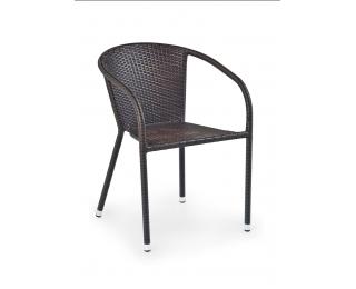 Záhradná stolička Midas - tmavohnedá