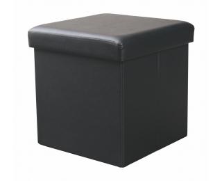 Taburetka s úložným priestorom Moly - čierna