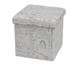 Taburetka s úložným priestorom Moly - vzor noviny