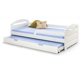 Rozkladacia posteľ s prístelkou Natalie 2 90 - biely lesk
