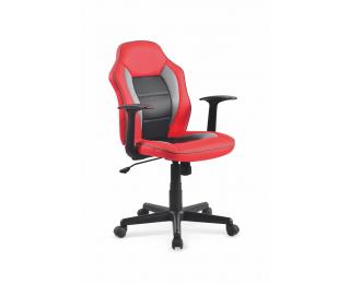 Detská stolička na kolieskach s podrúčkami Nemo - červená / čierna / sivá
