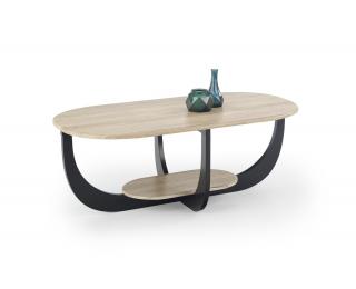 Konferenčný stolík Odilia - dub san remo / čierna