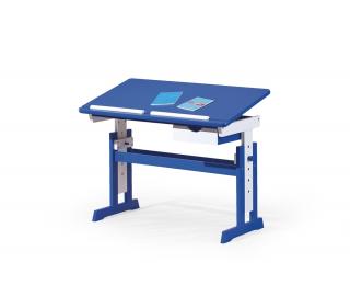 Detský písací stôl Paco - modrá / biela
