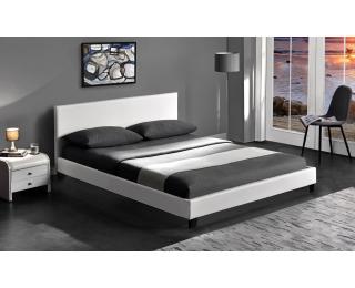 Čalúnená manželská posteľ s roštom Pago 160 - biela