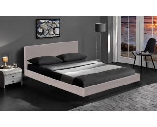 Čalúnená manželská posteľ s roštom Pago 160 - cappuccino