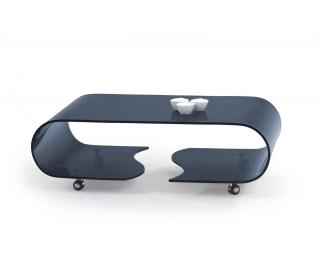 Sklenený konferenčný stolík Penelope - grafit
