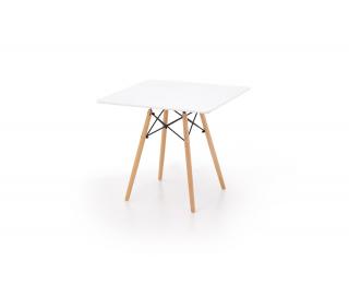 Jedálenský stôl Prometheus - biely lesk / buk