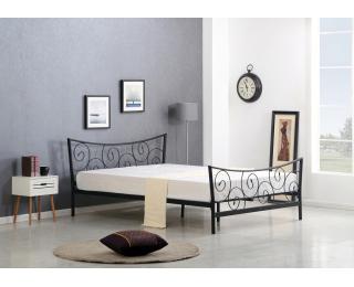 Kovová jednolôžková posteľ s roštom Ramona 120 - čierna