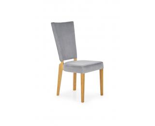 Jedálenská stolička Rois - sivá / dub medový