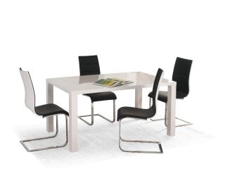 Rozkladací jedálenský stôl Ronald 120/160 - biely lesk