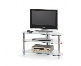 Sklenený TV stolík RTV-13 - priehľadná