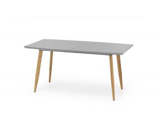 Rozkladací jedálenský stôl Ruten - sivý lesk / dub medový