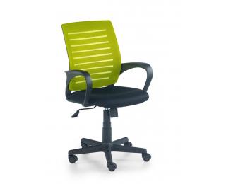 Kancelárska stolička s podrúčkami Santana - zelená / čierna
