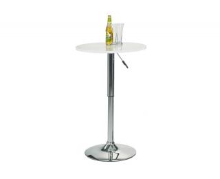 Barový stôl SB-1 - biely lesk / chróm