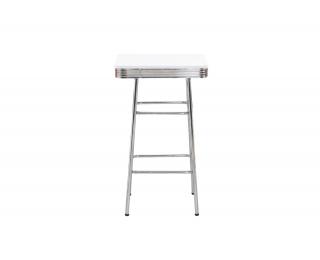 Barový stôl SB-11 - biela / chróm