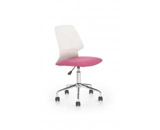 Detská stolička na kolieskach Skate - ružová / biela