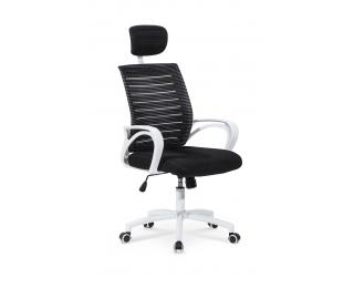 Kancelárska stolička s podrúčkami Socket - čierna / biela