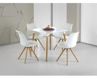 Jedálenský stôl Socrates 80 - biely lesk / buk