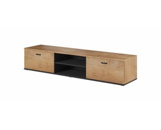 TV stolík Soho 180 - dub lefkas / čierna