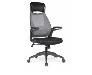 Kancelárska stolička s podrúčkami Solaris - čierna / sivá