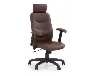 Kancelárske kreslo s podrúčkami Stilo - hnedá