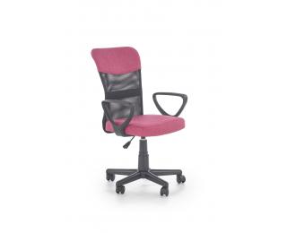 Kancelárska stolička s podrúčkami Timmy - ružová / čierna