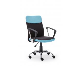 Kancelárska stolička s podrúčkami Topic - modrá / čierna