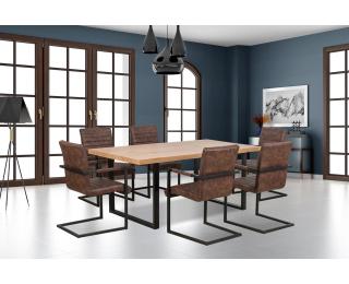 Jedálenský stôl Torres - dub zlatý / čierna