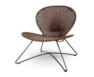Záhradná stolička Troy - hnedá