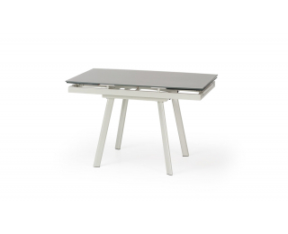 Sklenený rozkladací jedálenský stôl Turion - svetlobéžová / khaki
