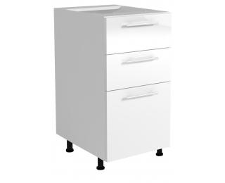 Dolná kuchynská skrinka Vento D3S-40/82 - biela / biely vysoký lesk