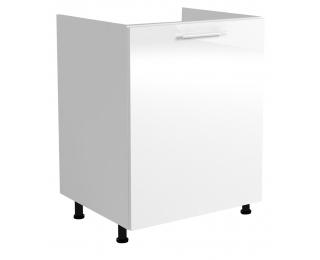 Drezová kuchynská skrinka Vento DK-60/82 - biela / biely vysoký lesk