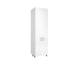 Kuchynská skrinka na vstavanú chladničku Vento DL-60/214 - biela / biely vysoký lesk