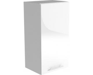 Horná kuchynská skrinka Vento G-30/72 - biela / biely vysoký lesk