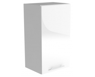 Horná kuchynská skrinka Vento G-45/72 - biela / biely vysoký lesk