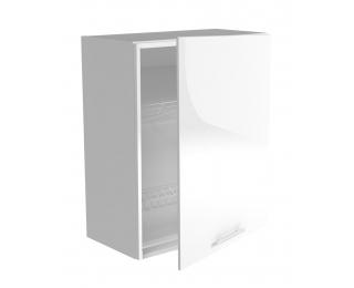 Horná kuchynská skrinka Vento GC-60/72 - biela / biely vysoký lesk