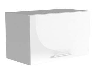 Horná kuchynská skrinka Vento GO-60/36 - biela / béžový vysoký lesk