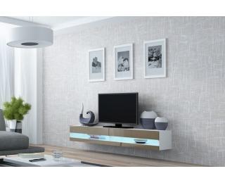 TV stolík na stenu Vigo New 180 - biela / latte lesk