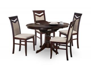 Rozkladací jedálenský stôl William - tmavý vlašský orech