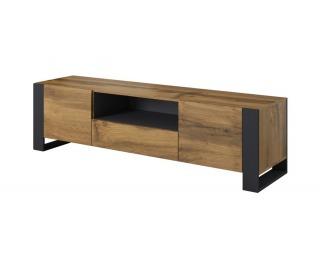 TV stolík Wood - dub wotan / antracit