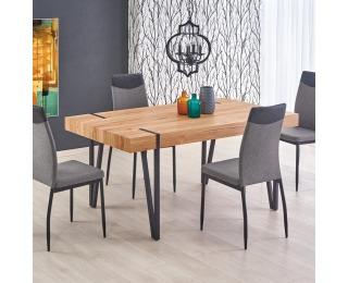 Jedálenský stôl Yohann - dub zlatý / čierna