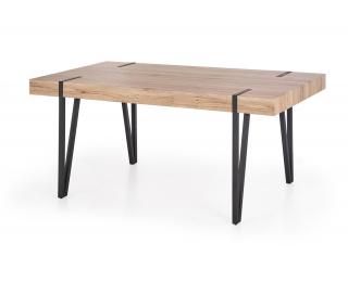 Jedálenský stôl Yohann - dub san remo / čierna