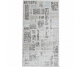 Koberec Heather 67x120 cm - svetlosivá / tmavosivá / modrá