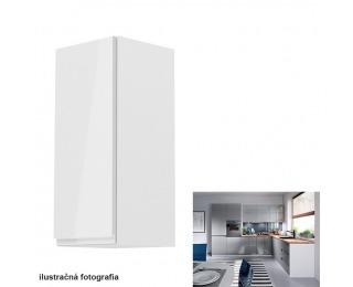 Horná kuchynská skrinka Aurora G30 L - biela / sivý lesk