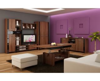 Obývacia izba Hugo - slivka / čierny lesk